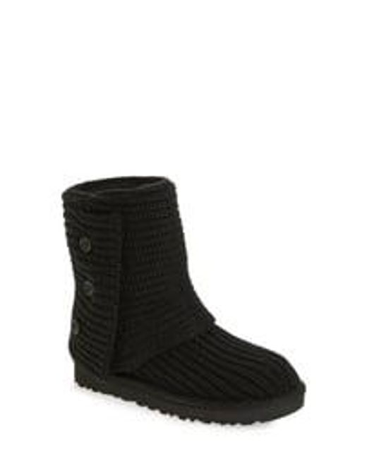 Ugg Gray ® Classic Cardy Button Detailed Knit Boots