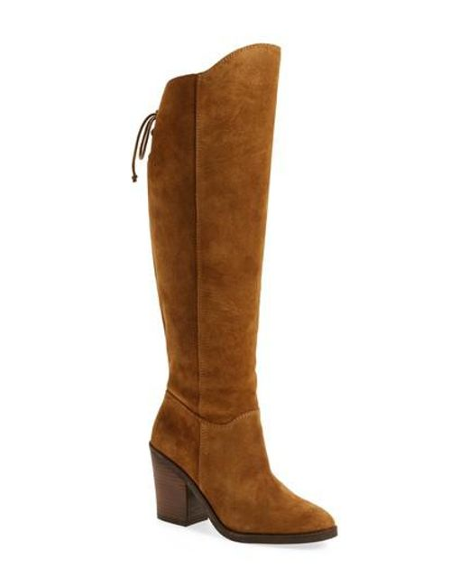 Lucky Brand | Brown Pembe Asymmetrical Boot | Lyst