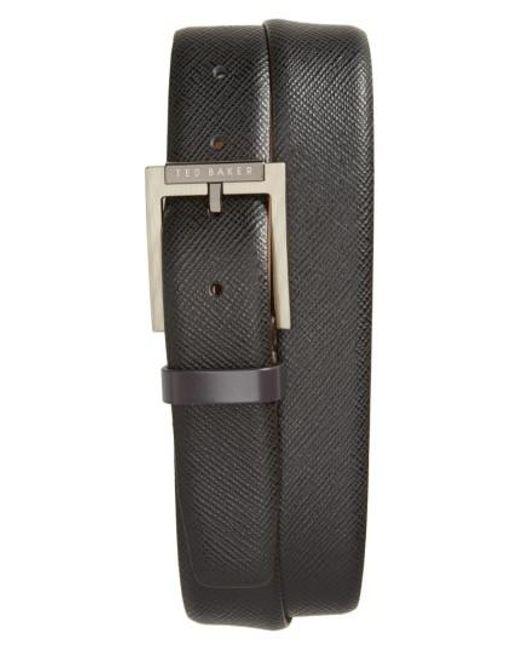 Ted Baker - Black Parmer Leather Belt for Men - Lyst