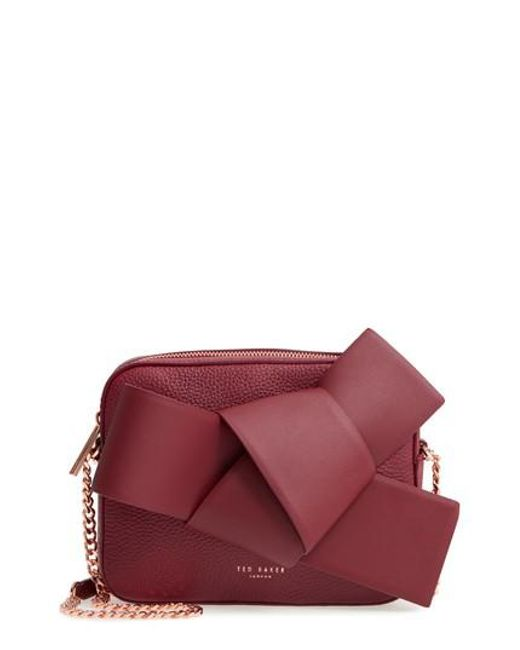 Ted Baker - Purple Giant Knot Leather Camera Bag - Burgundy - Lyst