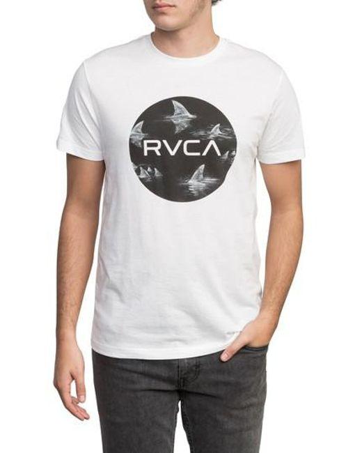 RVCA - White Motors Fill-up T-shirt for Men - Lyst