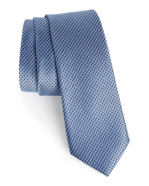 Calibrate Blue Anser Solid Silk Tie for men