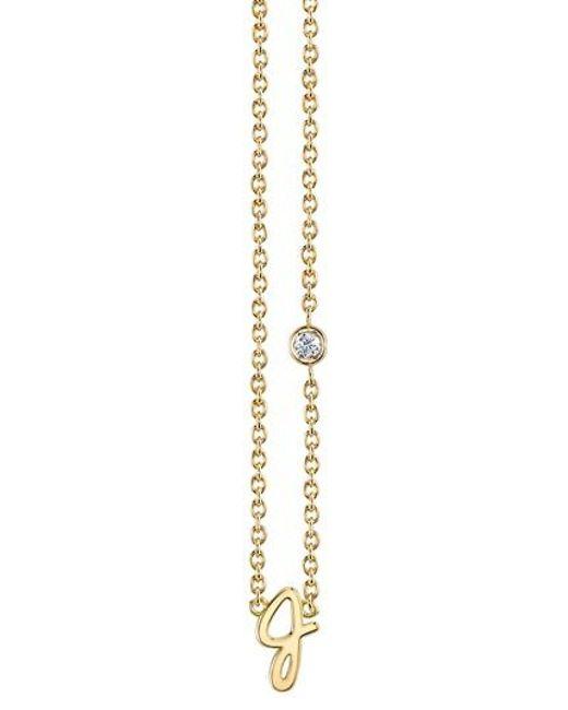 Sydney Evan Diamond N Necklace - Metallic F4SxvO