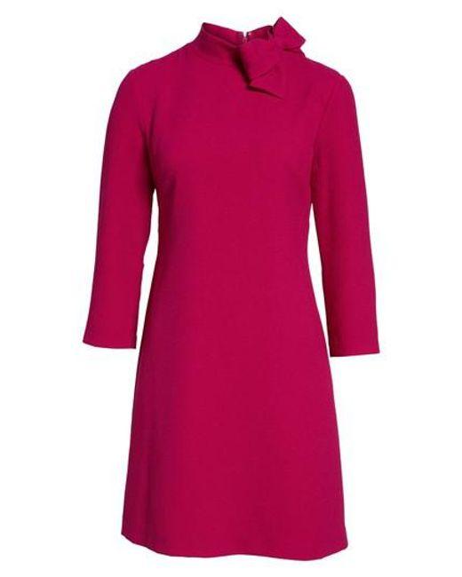 Eliza J | Pink Bow Crepe A-line Dress | Lyst