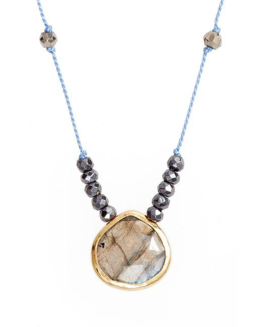 Ela Rae - Blue Sylvie Semiprecious Stone Necklace - Lyst