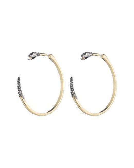 Alexis Bittar - Metallic Elements Snake Hoop Earrings - Lyst