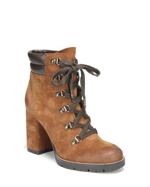 Sam Edelman | Brown Carolena Lace-up Boot | Lyst