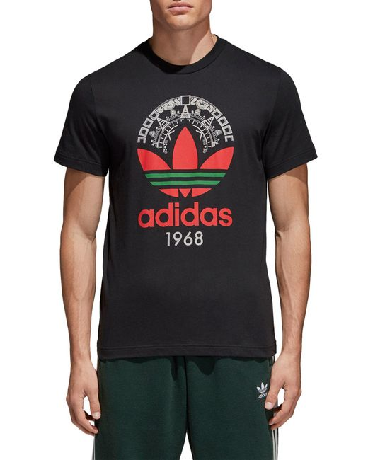 Adidas Originals - Black Trefoil T-shirt for Men - Lyst