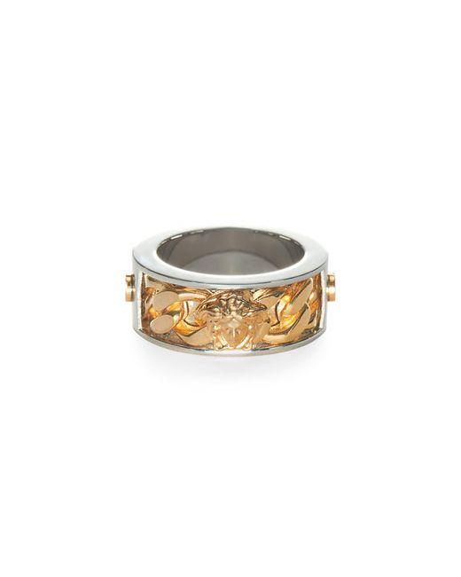 Versace Metallic Medusa Ring for men