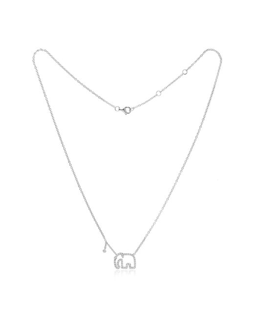 Yvonne Léon - Metallic Mini Elephant Grey Diamond Necklace - Lyst