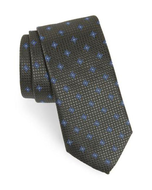 Eton of Sweden - Multicolor Medallion Silk Tie for Men - Lyst