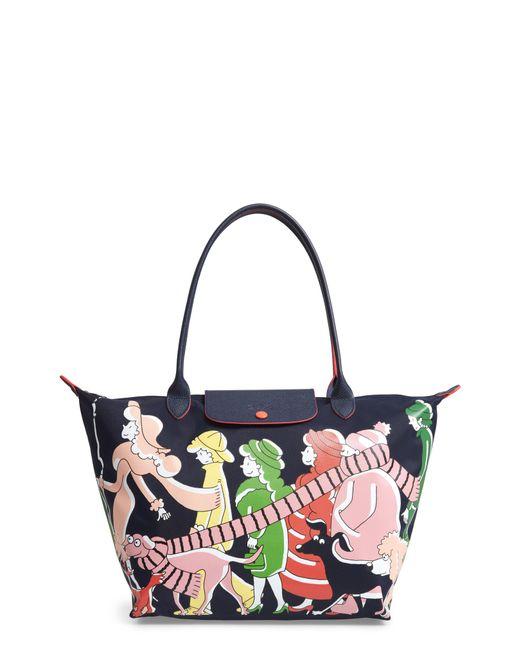 Longchamp - Blue X Clo'e Floirat Le Pliage Illustration Shoulder Bag - Lyst