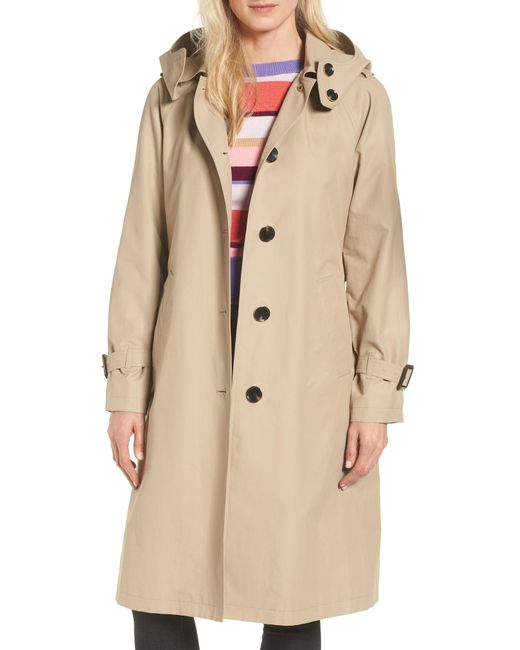 MICHAEL Michael Kors - Natural Hooded Trench Coat - Lyst