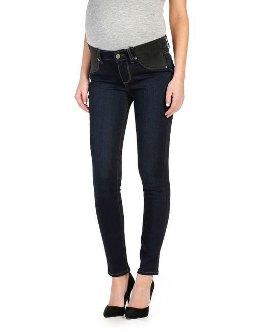 PAIGE Blue 'transcend - Verdugo' Ankle Skinny Maternity Jeans