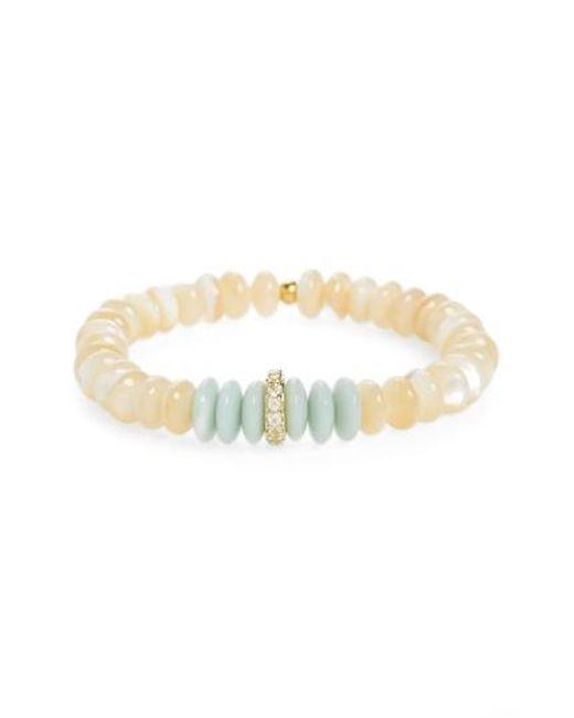 Elizabeth and James | White Rosa Miles Quartz Bracelet | Lyst