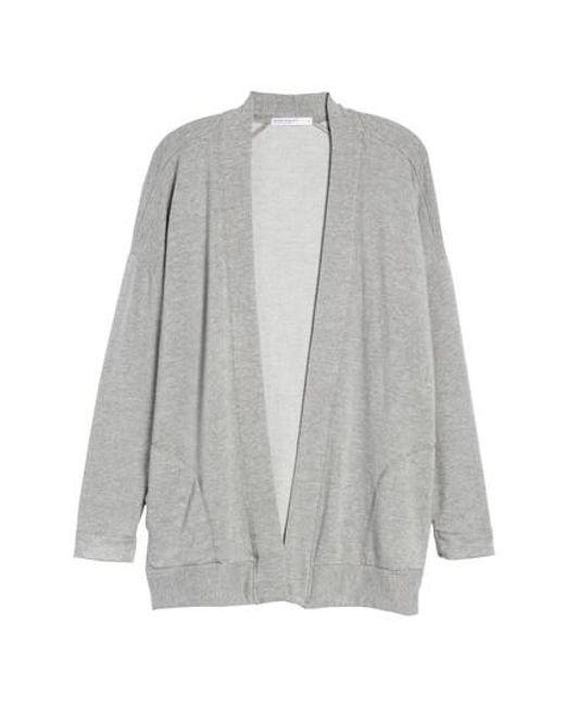 Stateside - Gray Fleece Cardigan - Lyst
