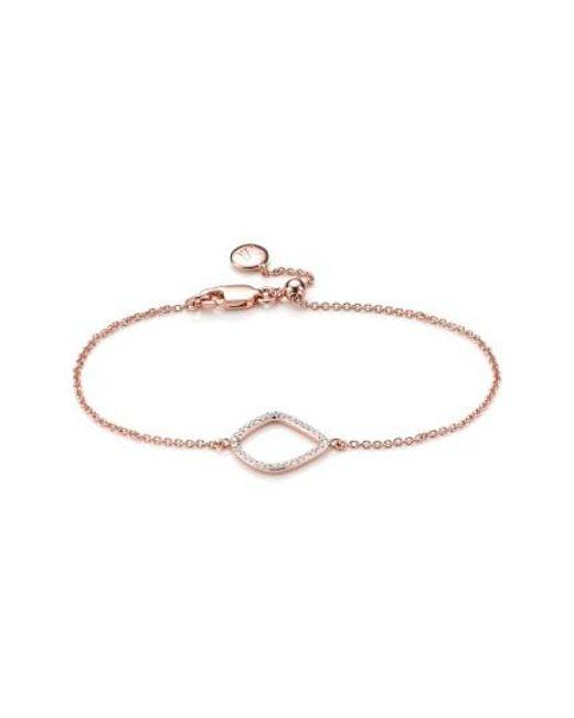Monica Vinader | Metallic 'riva' Diamond Charm Bracelet | Lyst