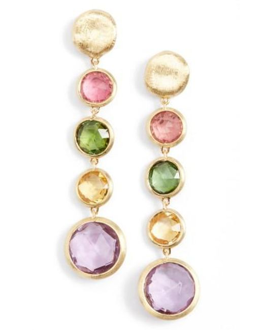 Marco Bicego | Metallic 'jaipur' Semiprecious Stone Linear Earrings | Lyst