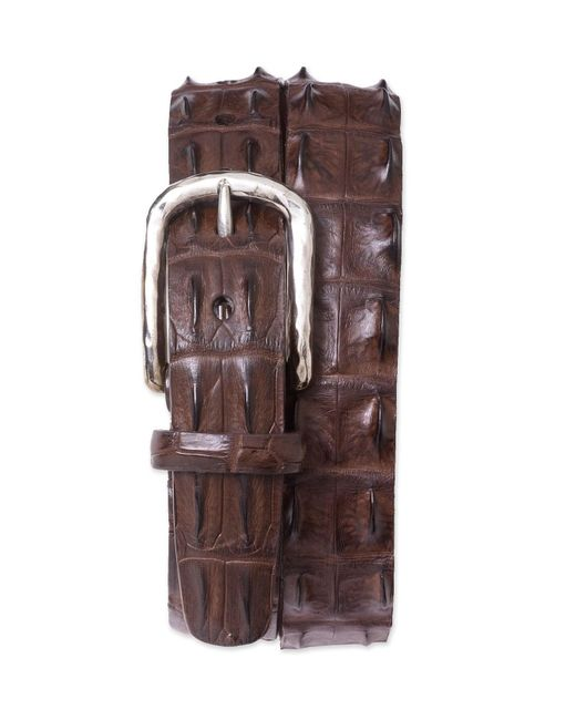 Torino Leather Company - Brown Hornback Crocodile Leather Belt for Men - Lyst