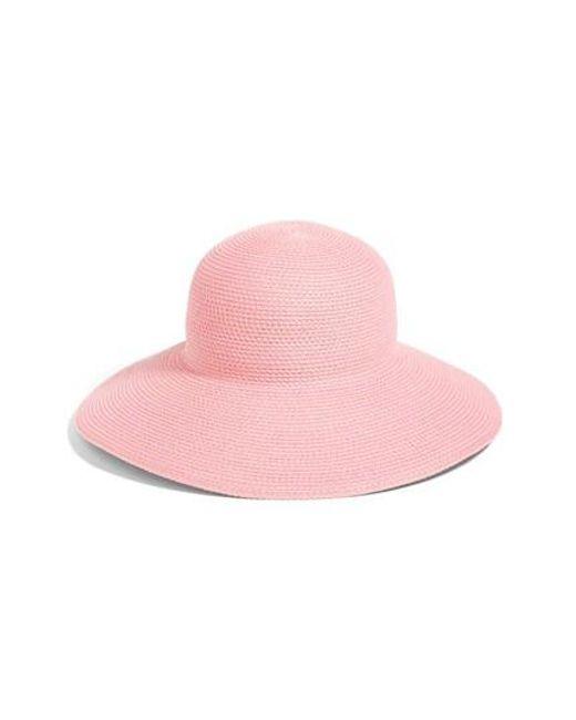 Eric Javits | Pink 'hampton' Straw Sun Hat | Lyst