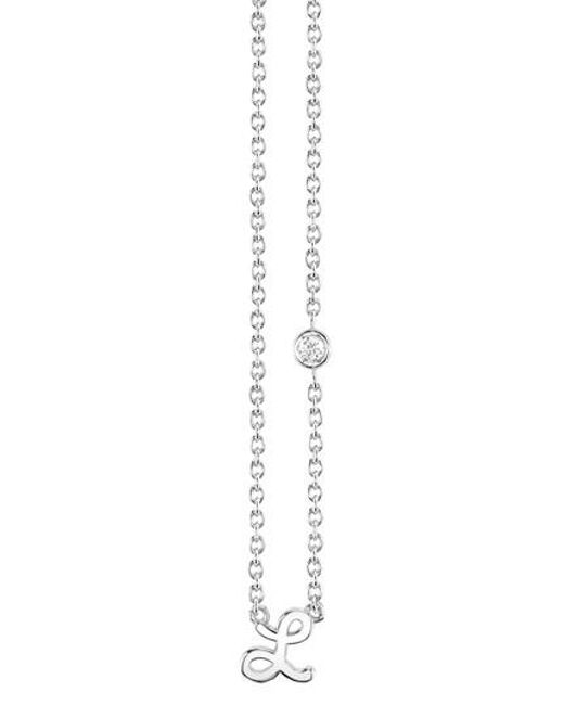 Shy By Sydney Evan - Metallic Diamond Initial Pendant Necklace - Lyst