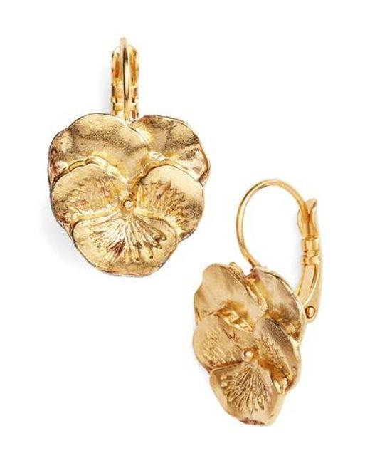 Gas Bijoux | Metallic Pensee Earrings | Lyst