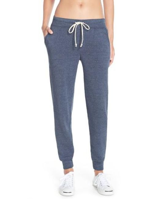 Alternative Apparel | Blue Fleece Jogger Sweatpants | Lyst