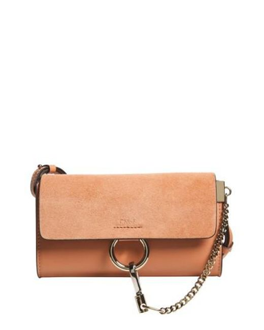 Chloé | Multicolor Mini Faye Suede & Leather Wallet On A Chain | Lyst