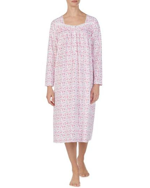 84aad48aed Lyst - Eileen West Nightgown in Pink