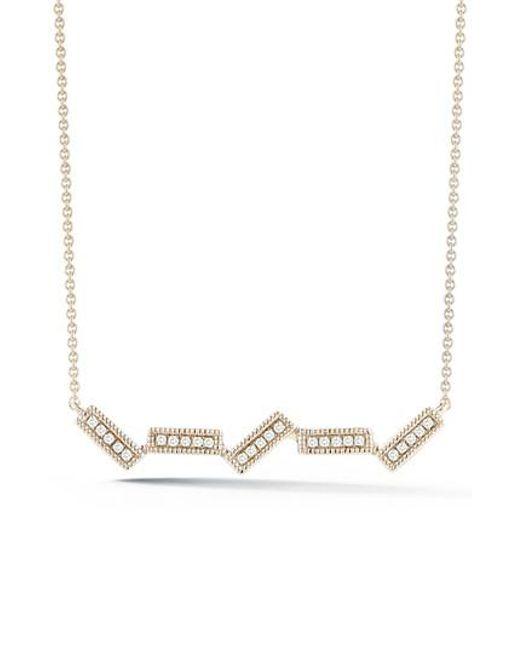 Dana Rebecca   Metallic Sylvie Rose Five-bar Diamond Pendant Necklace   Lyst