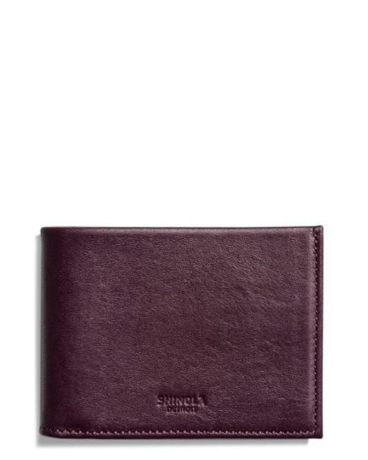Shinola - Natural Slim Bifold Leather Wallet for Men - Lyst