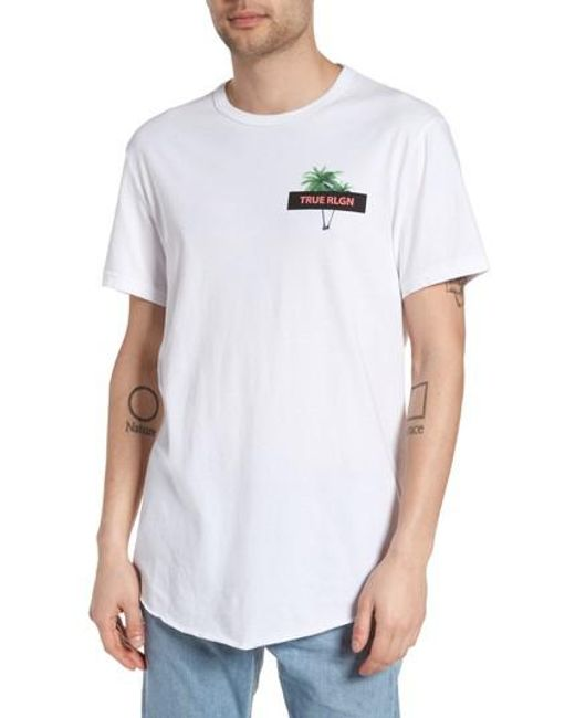 True Religion | White Twin Palms Graphic T-shirt for Men | Lyst