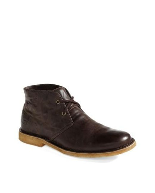 Ugg - Brown Ugg Leighton Chukka Boot for Men - Lyst