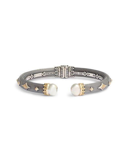 Konstantino Metallic Delos Thick Hinge Bracelet
