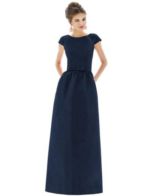 Alfred Sung   Blue Dupioni Cap-Sleeved Gown   Lyst