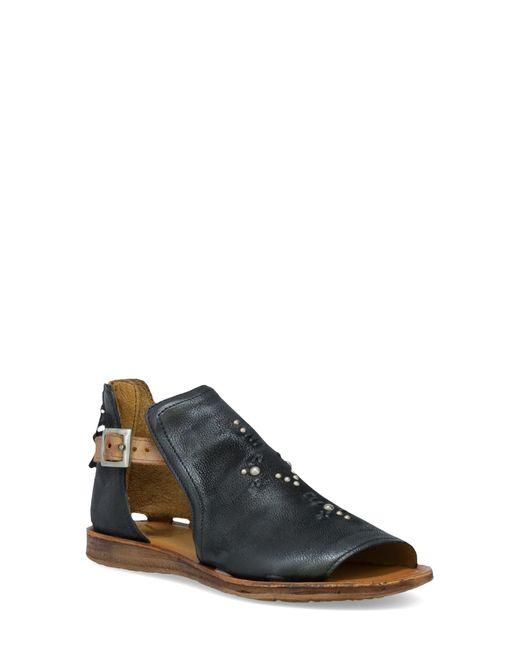 Miz Mooz Black Feat Flat Sandal