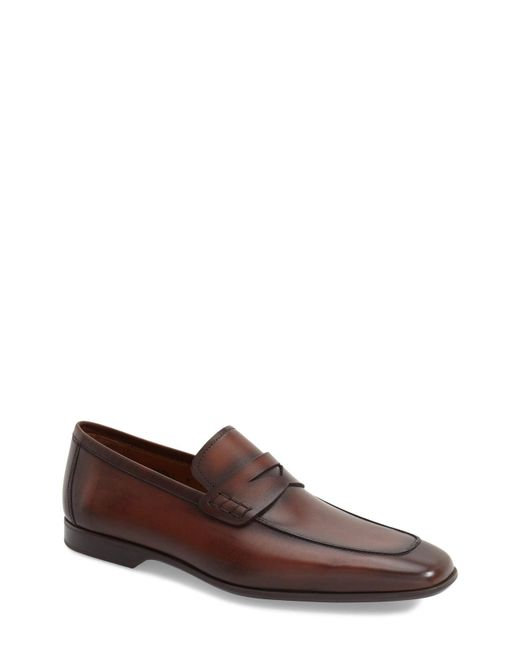 6d1cdba157c Magnanni Shoes - Brown  ramiro Ii  Penny Loafer for Men - Lyst ...