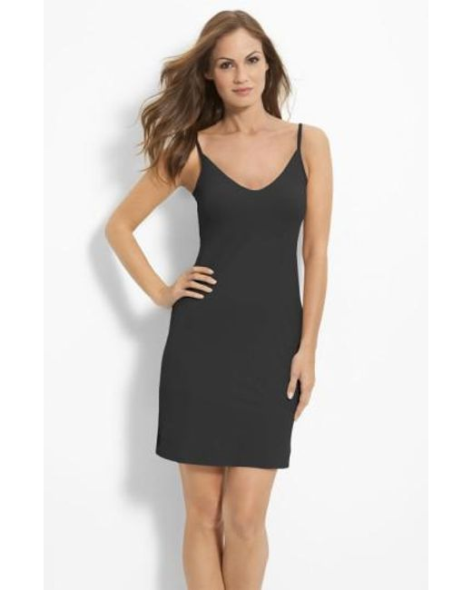Commando - Black Fitted Slip - Lyst