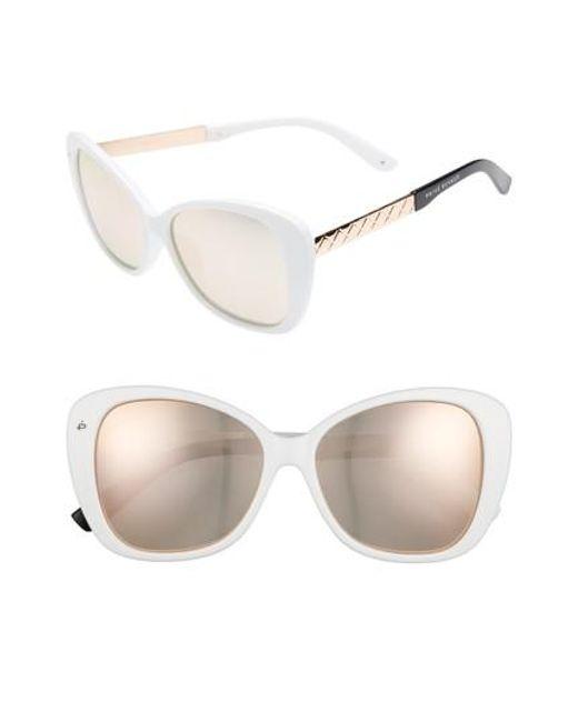 Privé Revaux - White The Jackie O 56mm Cat Eye Sunglasses - Lyst