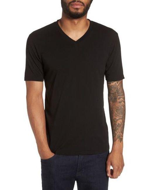 Goodlife - Black Classic Supima Cotton Blend V-neck T-shirt for Men - Lyst