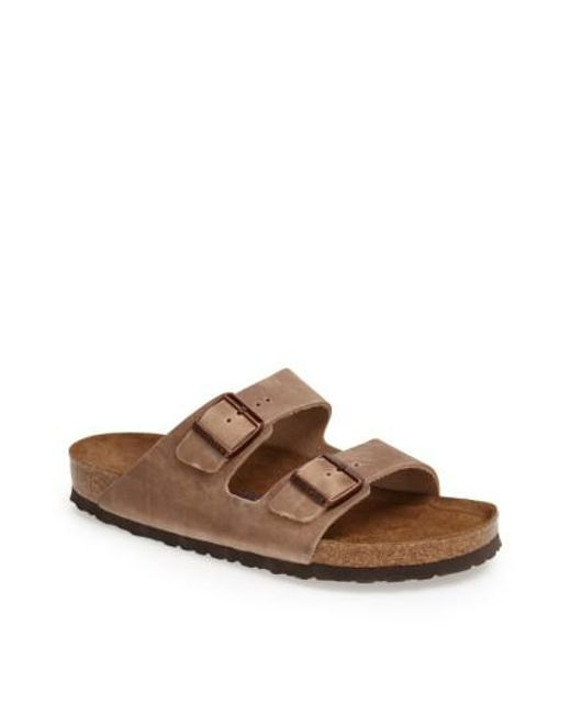 Birkenstock | Brown 'arizona Soft' Slide for Men | Lyst