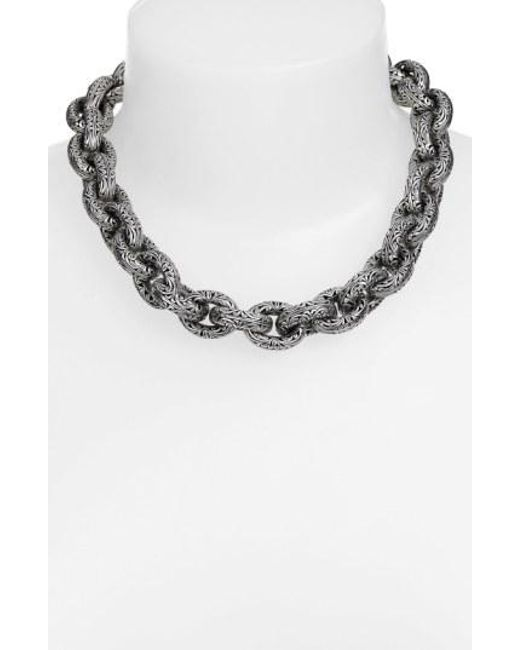Konstantino - Metallic 'classics' Link Collar Necklace - Lyst