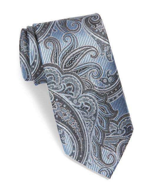 Nordstrom Blue Paisley Silk Tie for men