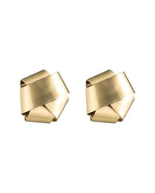 Alexis Bittar - Metallic Folded Knot Stud Earrings - Lyst