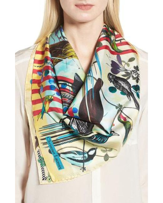 Christian Lacroix - Blue Sinfonia Silk Square Scarf - Lyst