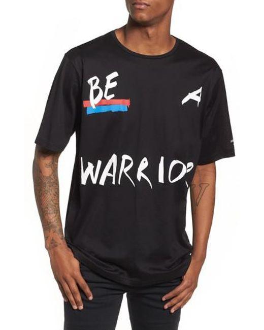 Antony Morato - Black Be Warrior Graphic T-shirt for Men - Lyst
