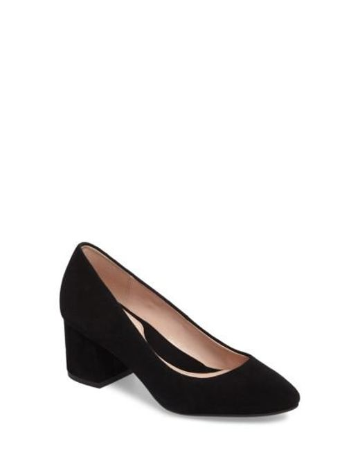 Taryn Rose | Black Rochelle Block Heel Pump | Lyst