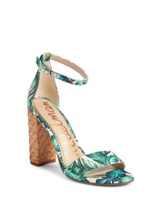 Sam Edelman - Blue Yaro Ankle Strap Sandal - Lyst