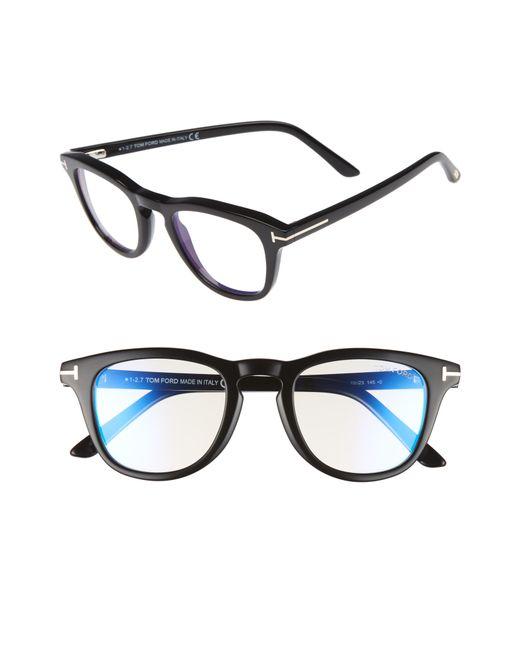 f1e1eb2edf Lyst - Tom Ford 49mm Blue Light Blocking Glasses - in Blue