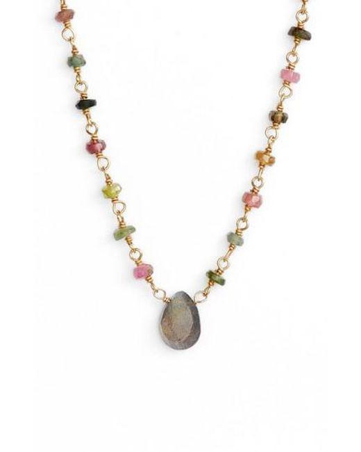 Ela Rae | Metallic Beaded Collar Necklace | Lyst